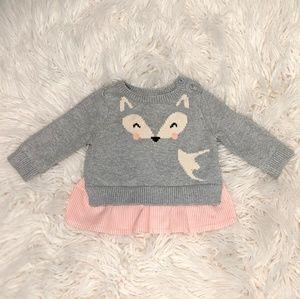 Baby Gap Fox Sweater 3-6 Months